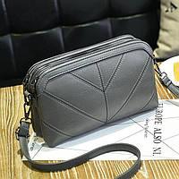 Стильная сумочка серая женская