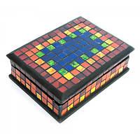 Шкатулка для украшений мозаичная 18х13х5,5 см (47024)