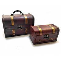 Сундучки деревянные Darshan набор 2 шт (50657)