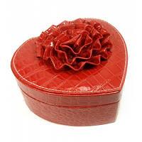 Шкатулка для бижутерии Сердечко Красная (47055)