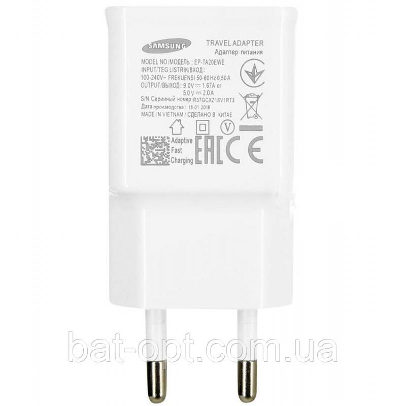 Сетевое зарядное устройство Samsung EP-TA20EWE  сетевой адаптер питания (1USB/2A) белый