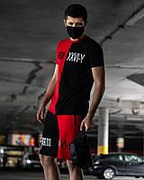 Летний комплект Smile (футболка+шорты) красно\черный