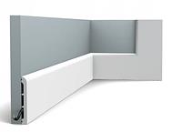 Плинтус гибкий напольный Orac Decor Axxent SX184F,(11x1.3x200 см),лепной декор из дюрополимера