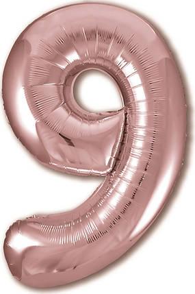 "Цифра 40"" AGURA-АГ 9 розовое золото slim (УП), фото 2"