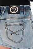 Юбка джинсовая омат 1398 синяя, фото 9