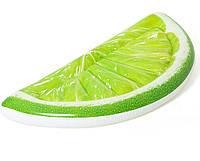 Пляжный надувной плавательный матрас для плавания салатовый Tropical Lime