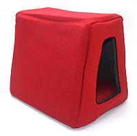 Домик пирамида для котов и собак Loft №2 30х40х35 см красный, фото 1