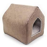 Домик для собак и котов Айсберг коричневый №1 35х44х39 см