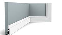Плинтус гибкий напольный Orac Decor Axxent SX187F,(7.5x1.2x200 см),лепной декор из дюрополимера