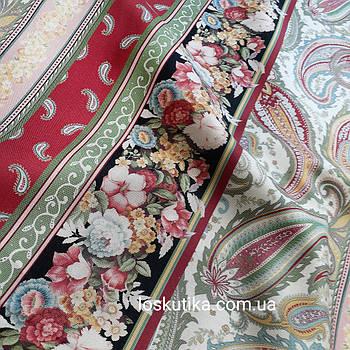 56017 Орнамент Винтаж. Ткань для шитья и рукоделия и декора. Натуральный хлопок.
