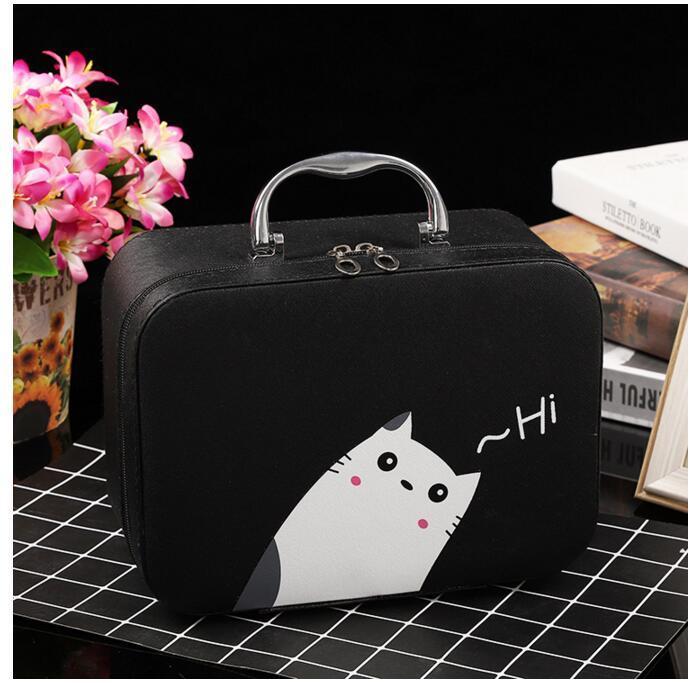 Кейс для косметики Котик черный 22x15 cm