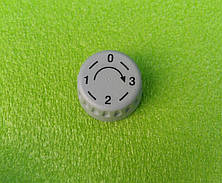 Ручка серая №5 пластиковая для переключателей мощности, таймеров, терморегуляторов (0-3) Турция, фото 3
