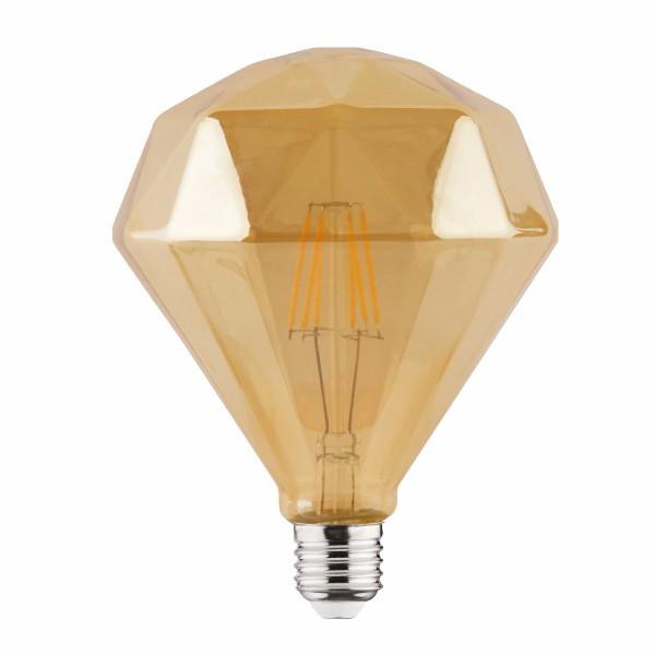 """Лампа вінтажна світлодіодна (ретро) """"RUSTIC DIAMOND-6"""" 6W Filament led 2200К E27"""