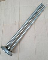 Фланец-колба (нержавейка) Ø92мм / c трубками под сухие тэны L=420мм  для бойлеров Ferroli, Electrolux, Thermex