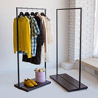 Вешалка стойка для одежды GoodsMetall в стиле Лофт 1470х1000х400мм ВШ110