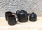 Чайний набір Велет з цукерничкою на 2 особи чорний, фото 3