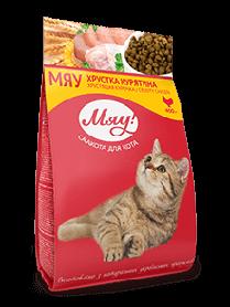 Мяу! Сухой корм для взрослых котов с курицей, 14 кг
