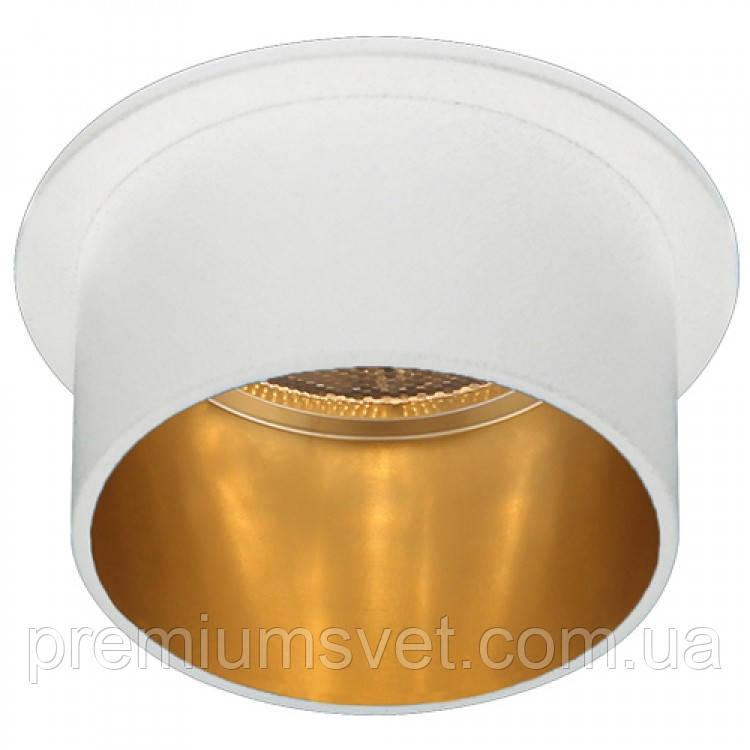 DL6005 свiтильник точковий MR16/G5.3 алюміній, білий+золото