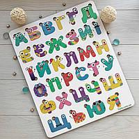 Деревянный алфавит цветной, українська абетка різнокольорова, пазл Алфавит для детей