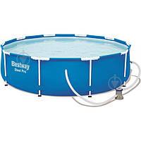 Каркасный бассейн Bestway 56679 305 х 76 см + фильтр-насос, фото 1