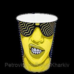 "#CoffeeParty 340мл Бумажный стакан 50шт/уп (1ящ/25уп/1250шт) (FiB 80/КВ79/""РОМБ"" 79)"