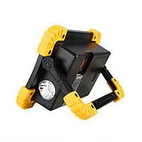 Кемпинговый прожектор Lesko LL-811 Black + Yellow автономный переносной уличный СОВ мощность 20Вт светодиодный, фото 2