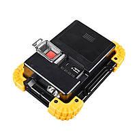Кемпинговый прожектор Lesko LL-811 Black + Yellow автономный переносной уличный СОВ мощность 20Вт светодиодный, фото 3