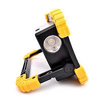 Кемпинговый прожектор Lesko LL-811 Black + Yellow автономный переносной уличный СОВ мощность 20Вт светодиодный, фото 4