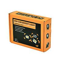 Кемпинговый прожектор Lesko LL-811 Black + Yellow автономный переносной уличный СОВ мощность 20Вт светодиодный, фото 6
