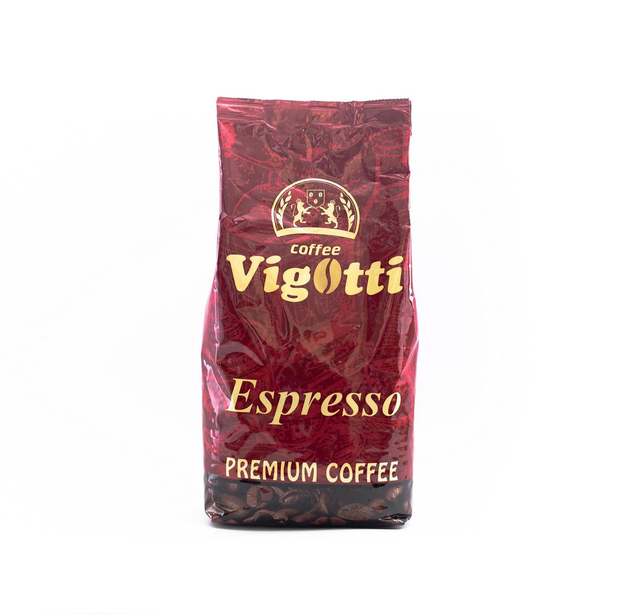 Кофе в зернах Vigotti Espresso Coffee кава купаж Арабика и Робуста