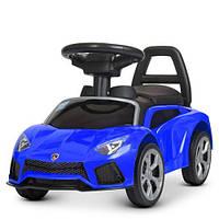 Дитяча Каталка-толокар автомобіль Lamborghini M 4315L-4, синій, фото 1