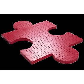 Плитка в виде пазла розовая на площадку резиновая