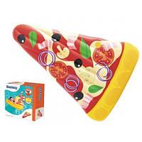 Пляжный надувной плавательный матрас для плавания Pizza Party Lounge