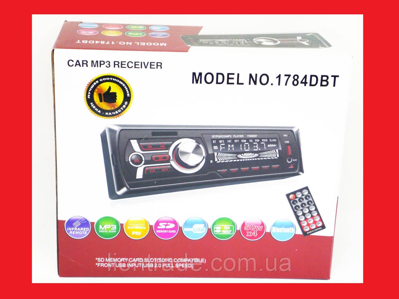 Автомагнітола Pioneer 1784DBT Bluetooth - Usb+підсвітка RGB+Fm+Aux+ пульт