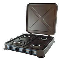 Газовая плита на 4 конфорки, Таганок domotec ms-6604 brown