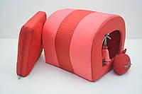 Домик туннель для собак и котов Комфорт лето красная №1 31х36х31 см