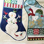 56016 Новогодний сапог (купон). Ткань с новогодним рисунком. Ткани для декора и рукоделия., фото 2