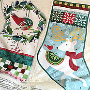 56016 Новогодний сапог (купон). Ткань с новогодним рисунком. Ткани для декора и рукоделия., фото 3