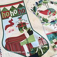 56016 Новогодний сапог (купон). Ткань с новогодним рисунком. Ткани для декора и рукоделия., фото 4