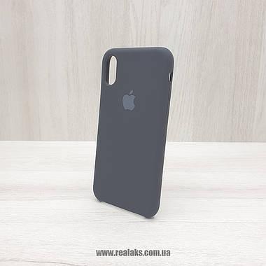 Чохол Silicone Case для Apple iPhone X / Xs black, фото 3