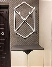Вешалка настенная, Металическая вешалка Loft (80*50)