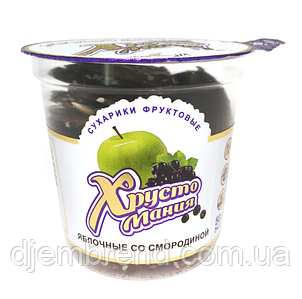 Сухарики яблучні ХРУСТОМАНИЯ зі Смородиною, 50 г