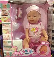 Кукла Пупс Baby Born 42 см, 9 функций, 9 аксессуаров