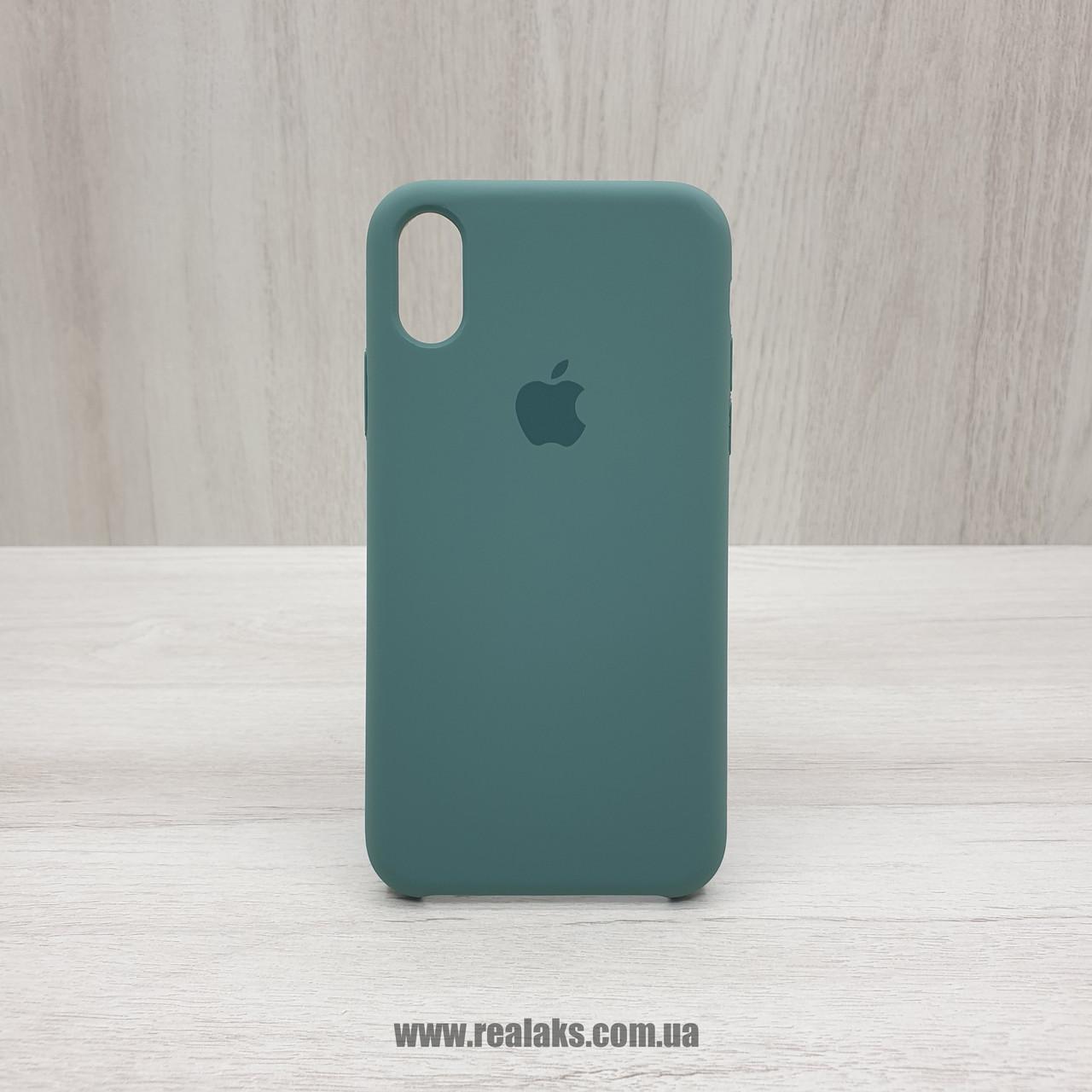 Чехол Silicone Case для Apple iPhone X / Xs army green