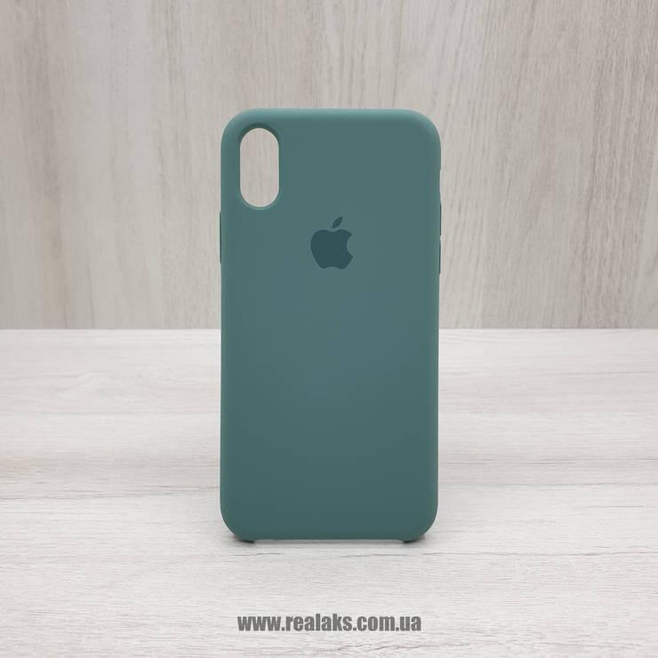 Чехол Silicone Case для Apple iPhone X / Xs army green, фото 2
