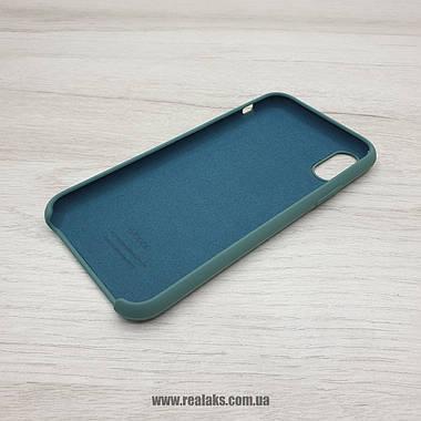 Чехол Silicone Case для Apple iPhone X / Xs army green, фото 3