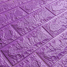 Декоративная 3D панель самоклейка под кирпич Фиолетовый (в упаковке 10 шт), фото 2