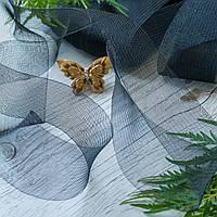 Регилин плоский (кринолин мягкий) / ширина 2,5 см / цвет черный / упаковка 25 м