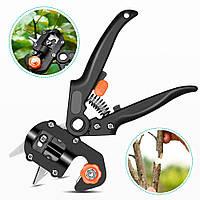 Профессиональный прививочный секатор Grafting Tool с 3 ножами для обрезки и прививки деревьев (0652)