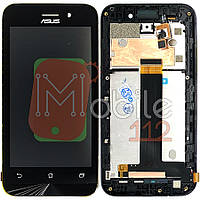 Экран (дисплей) Asus ZenFone Go ZB452KG + тачскрин черный оригинал Китай с передней панелью